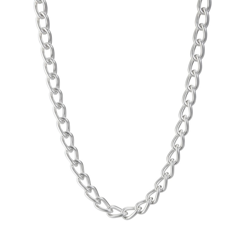 Solar medium Necklace - matt silver