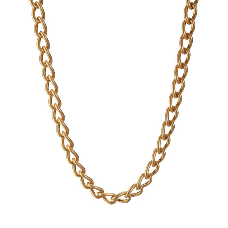 Solar medium Necklace - matt gold