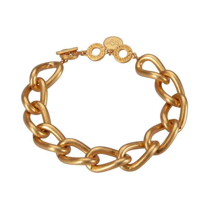 Solar bracelet - matt gold