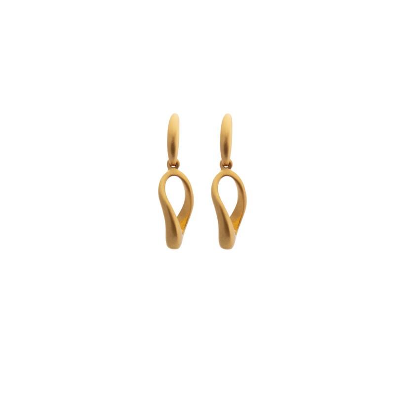 Loomis earrings - matt gold