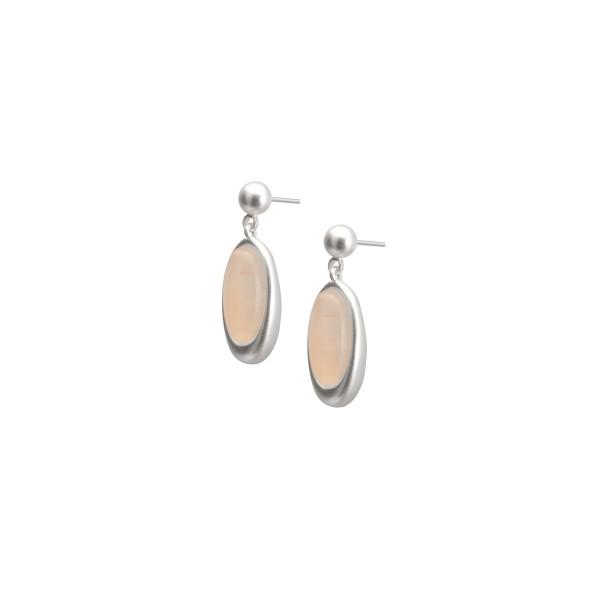 Juniper earrings with pink opal