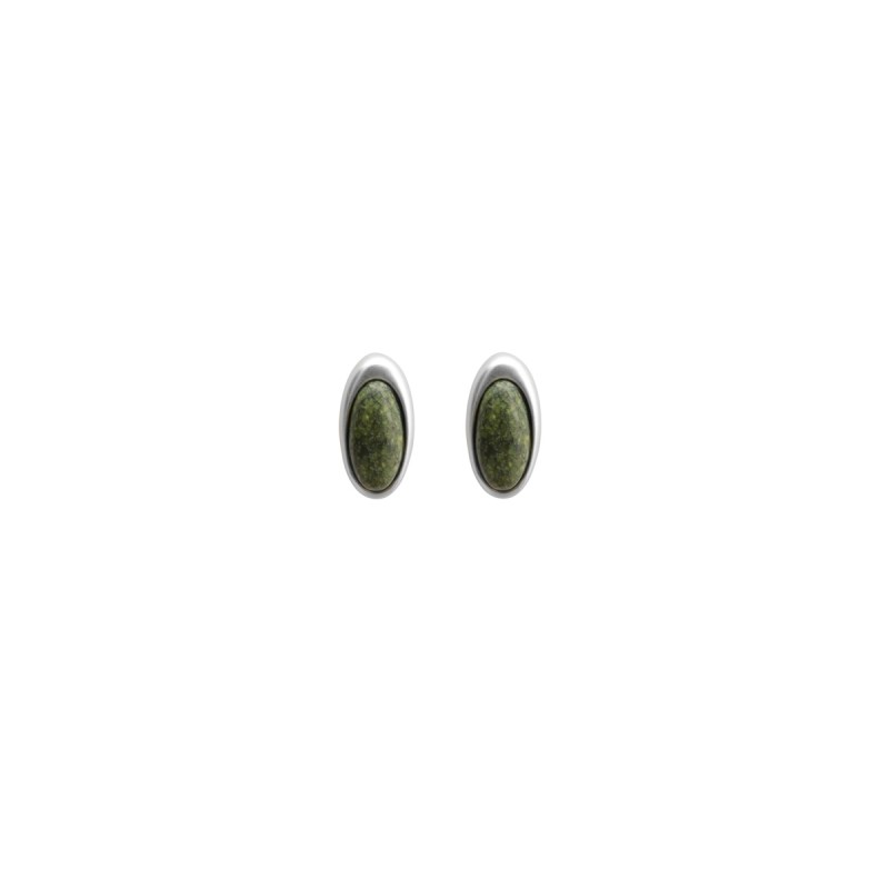 Aurora everyday stud earrings with serpentine