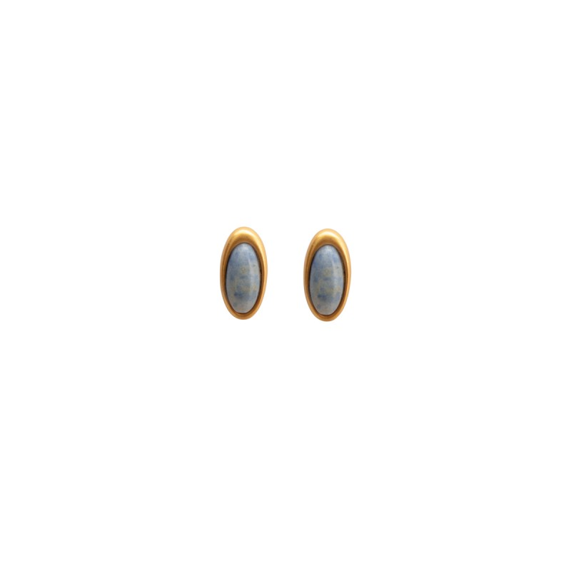 Aurora everyday stud earrings with blue quartz
