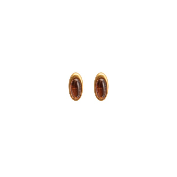 Aurora everyday stud earrings Gr.A Glass matt gold