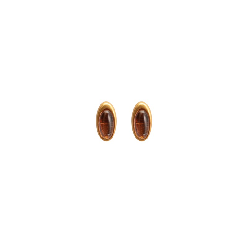 Aurora everyday stud earrings Gr.A Glass matt gold
