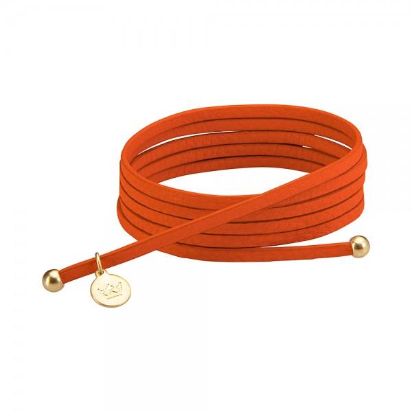 Bohemian Dream 3-pack leather wrap bracelets in modern ruby matt gold