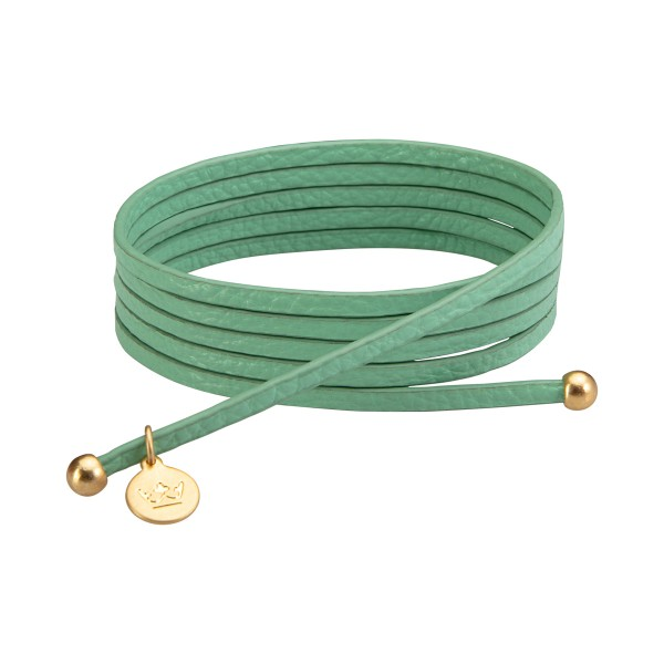 Bohemian Dream 3-pack leather wrap bracelets in new grass matt gold