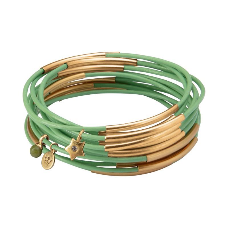 UG stack bracelet in sublime mints matt gold