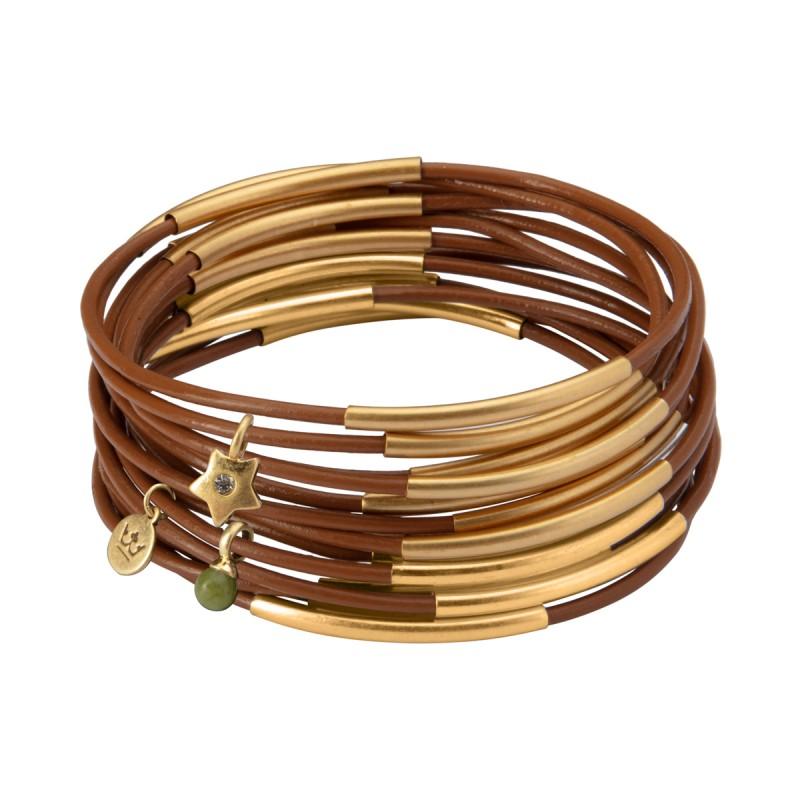 UG stack bracelet in sahara sunset matt gold