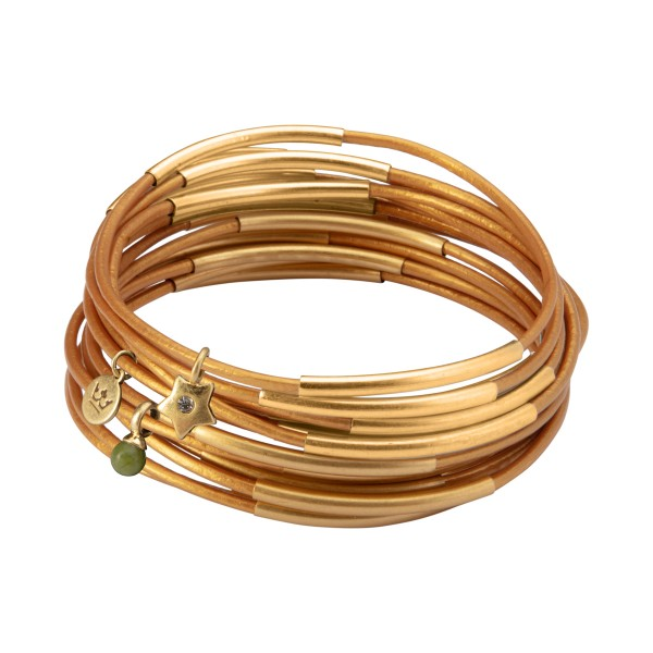 UG stack bracelet in gold rush matt gold