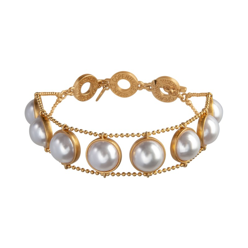 Ombre bracelet with pearls in gold