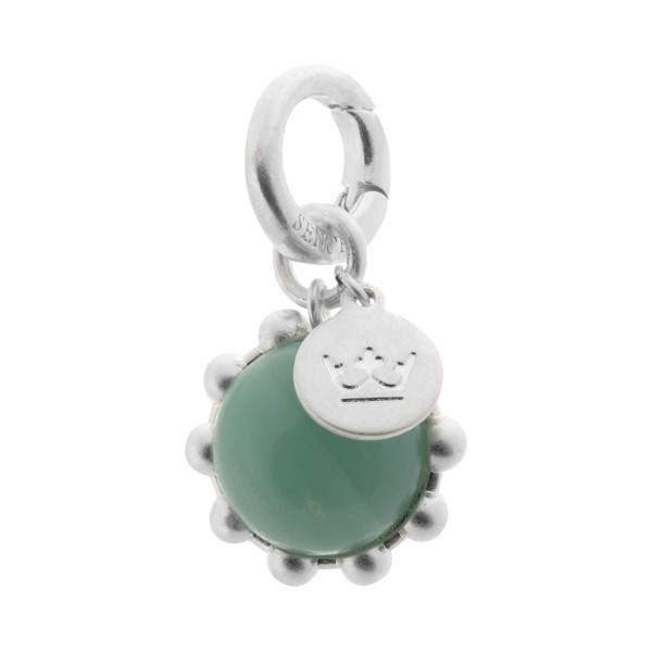 Ombre charm with amazonite in silver