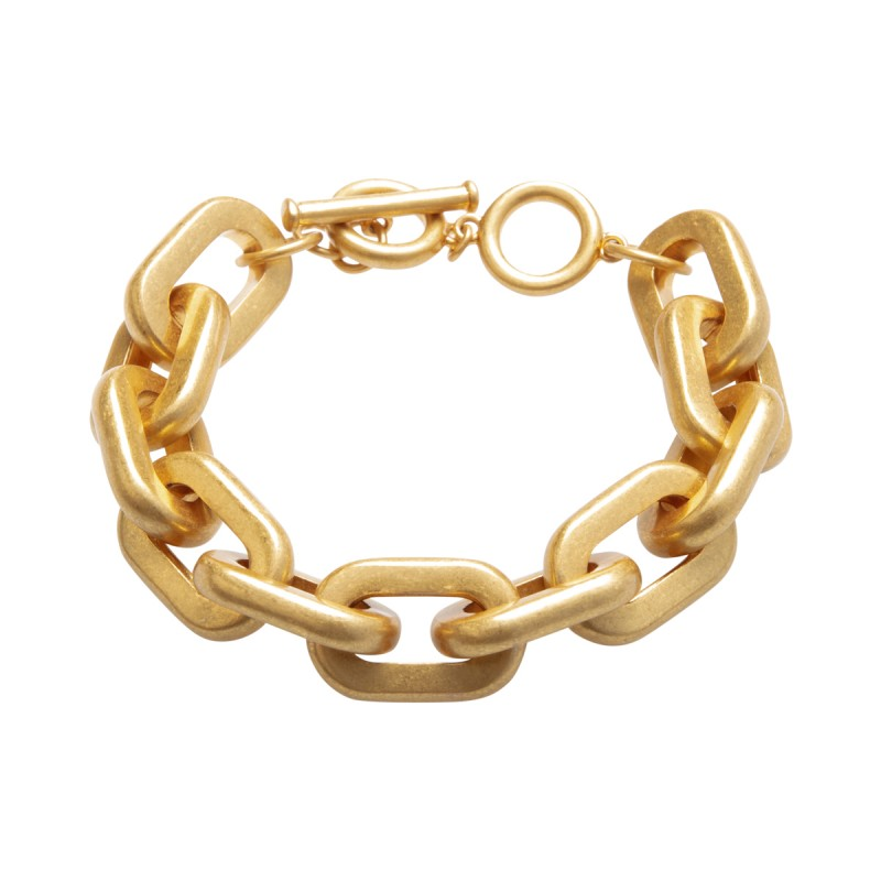 Lighthouse bracelet with T-bar in gold