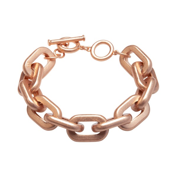 Lighthouse bracelet with T-bar in rose gold