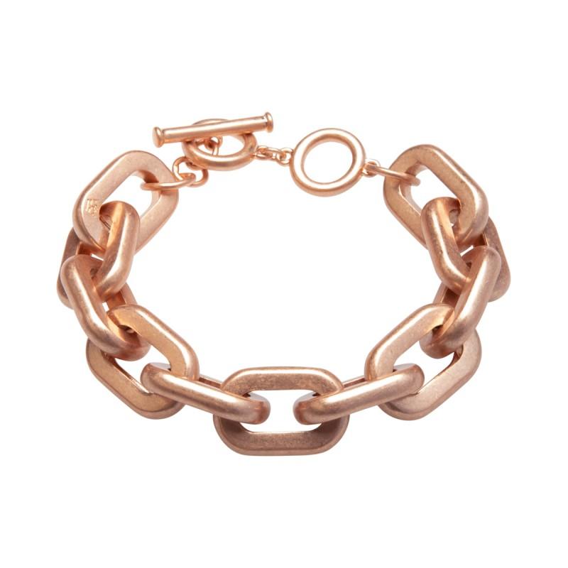 Lighthouse bracelet with T-bar in rose gold