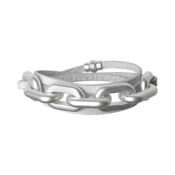 Lighthouse wrap bracelet in earnest grey silver