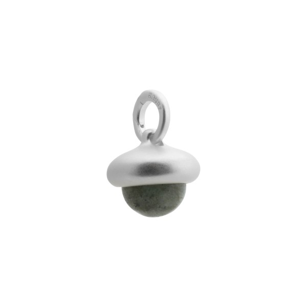 Beacon charm with labradorite in silver