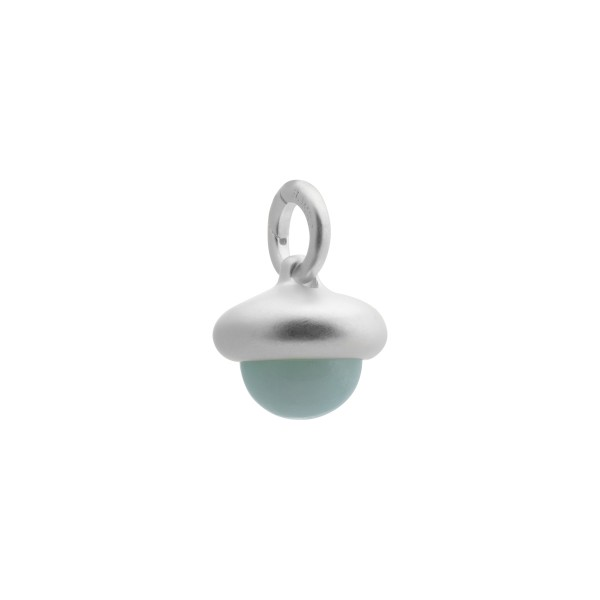 Beacon charm with aquamarine in silver