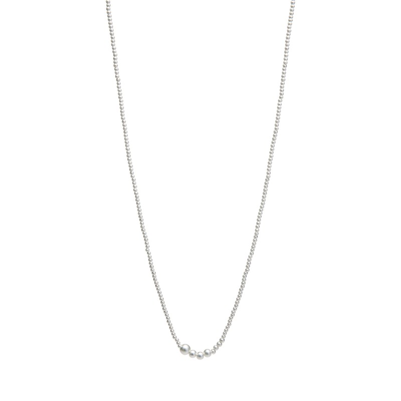 Serenity long necklace in silver