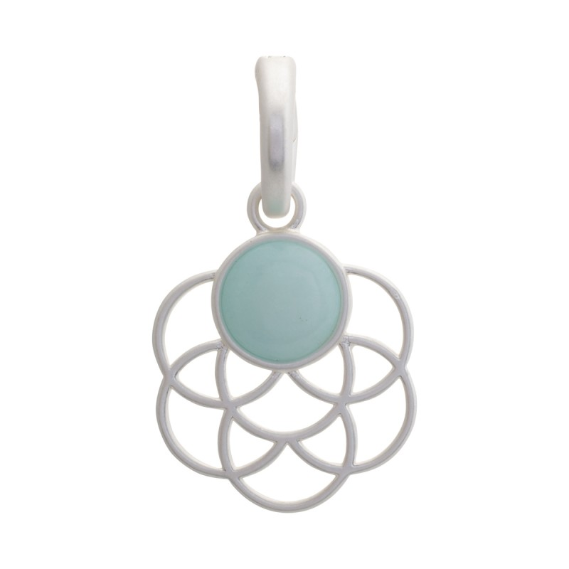 Serenity Kal charm with aquamarine in silver