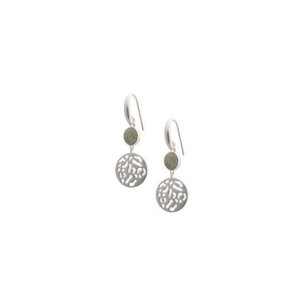 Kleep earrings with labradorite