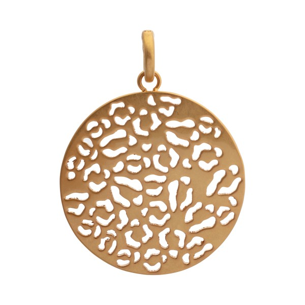 Flora charm in gold