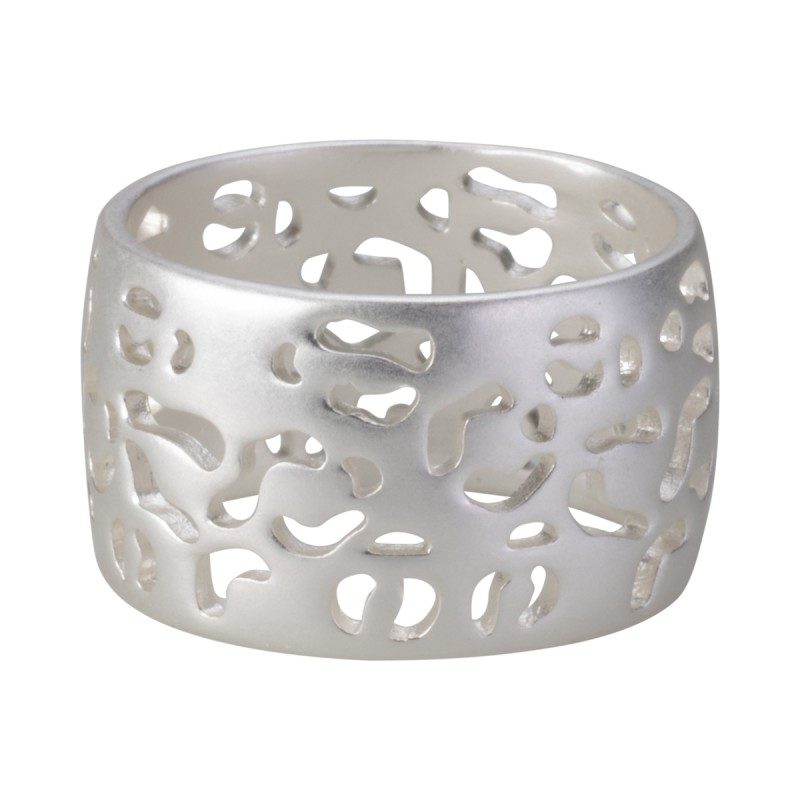 Flora ring in silver 7