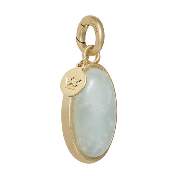 Essentials Bal charm with aquamarine in gold