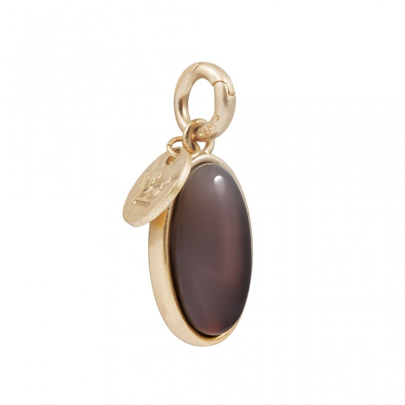 Essentials Bal charm with grey agate in gold