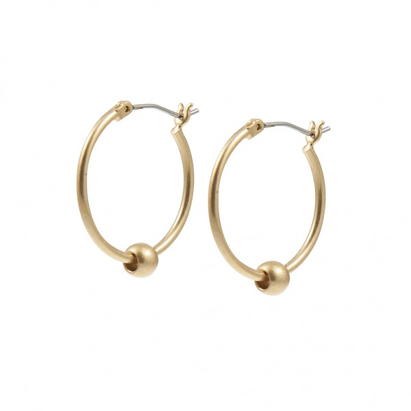 Essentials Bal hoop earrings in gold