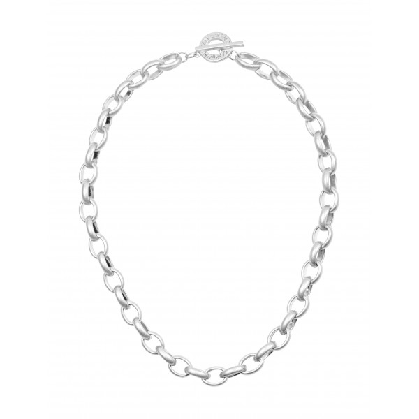 Essentials Beech short necklace in silver