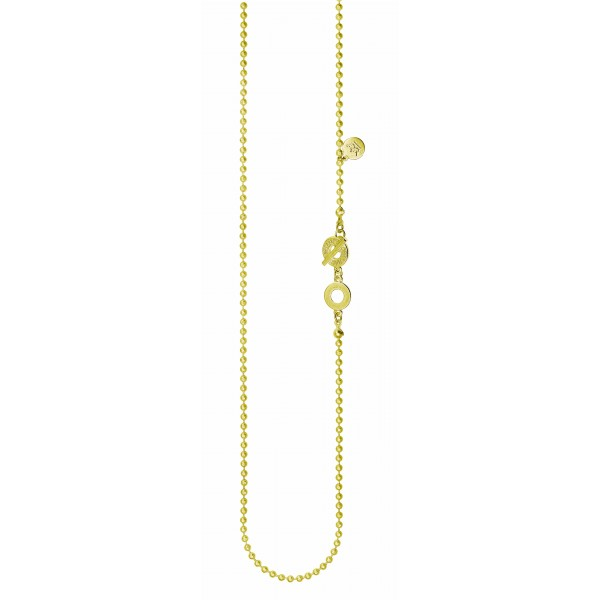 Essentials Cedar long necklace in gold 90 cm