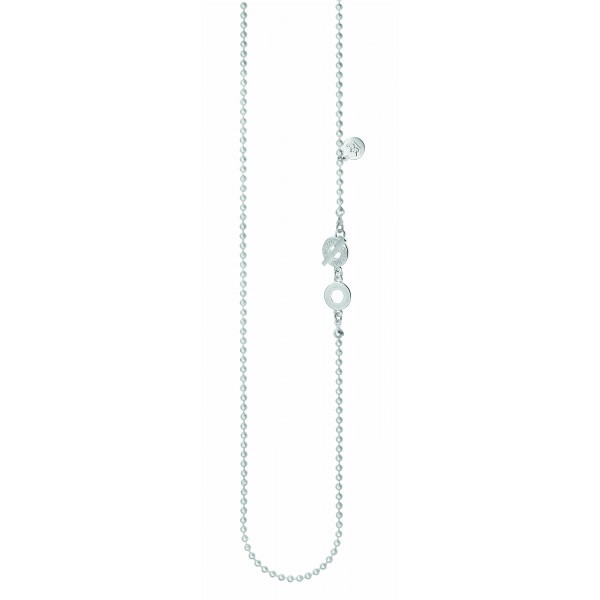 Essentials Cedar long necklace in silver 90 cm
