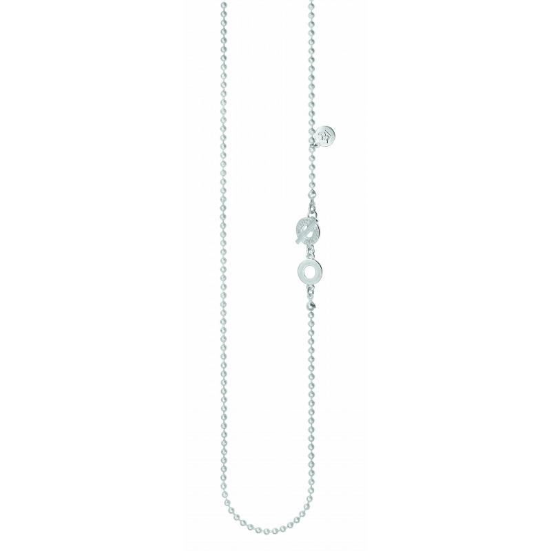 Essentials Cedar long necklace in silver 90 cm