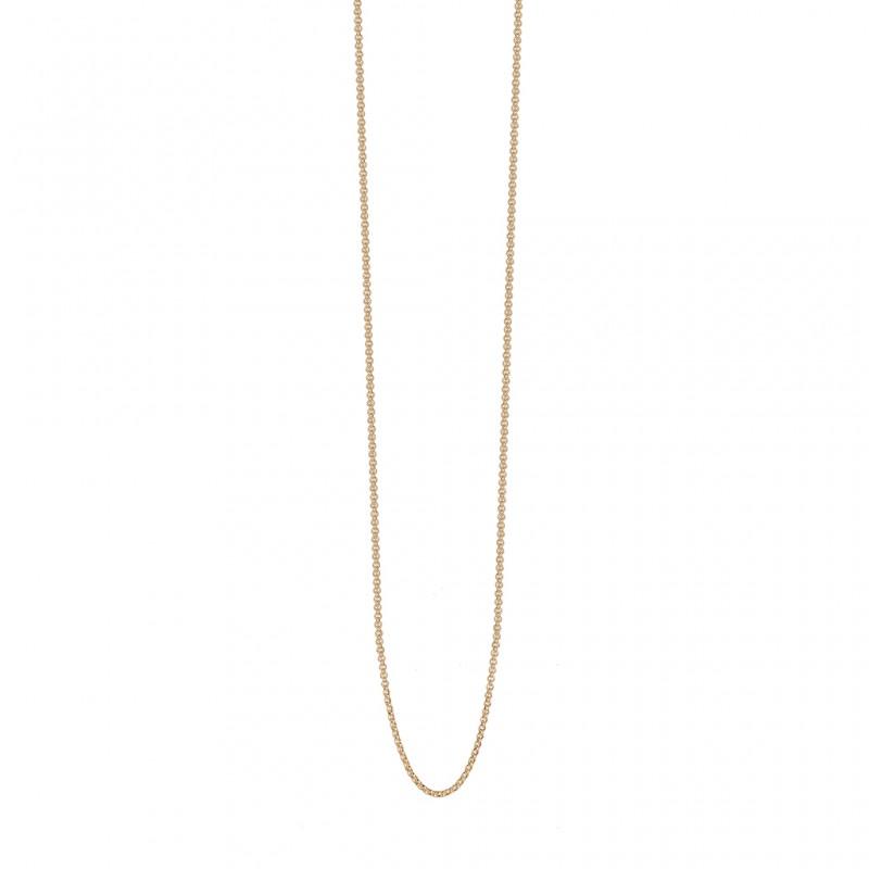 Essentials Cedar necklace in gold 90 cm