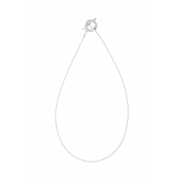 Essentials Cedar short necklace in silver