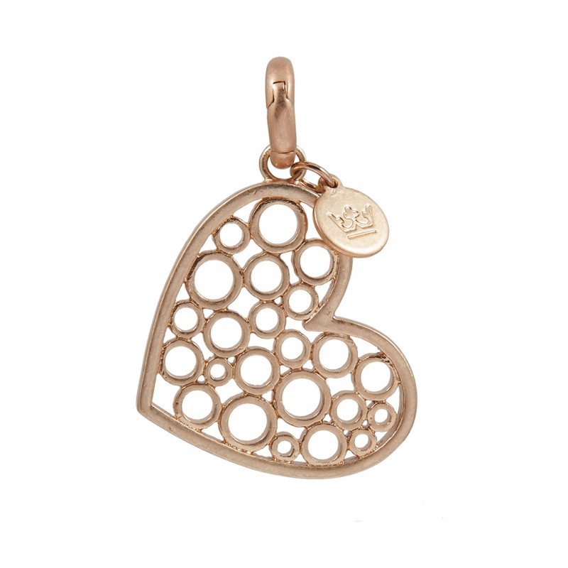 Essentials Champagne Heart charm in rose gold