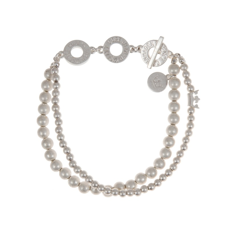 Essentials Cypress double layers bracelet in silver