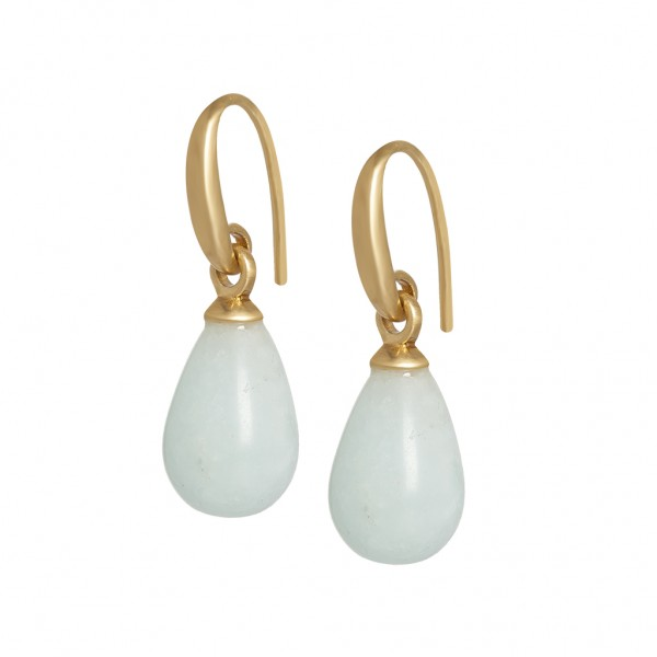 Essentials Lake Sunset earrings with aquamarine in gold