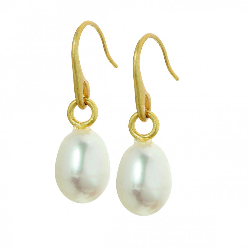 Essentials Lake Sunset earrings with pearl in gold