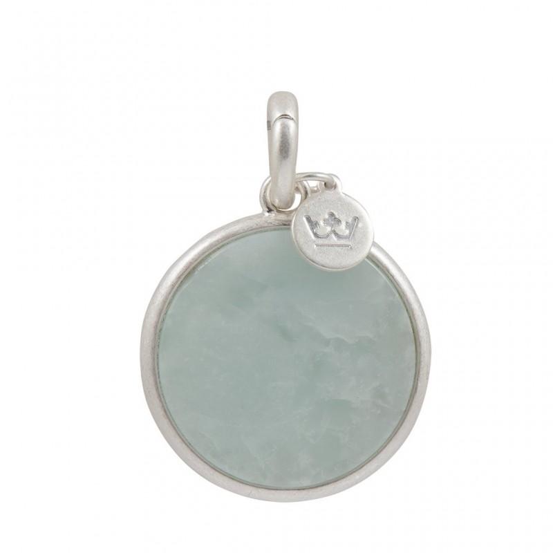 Essentials Moonlit charm with aquamarine in silver