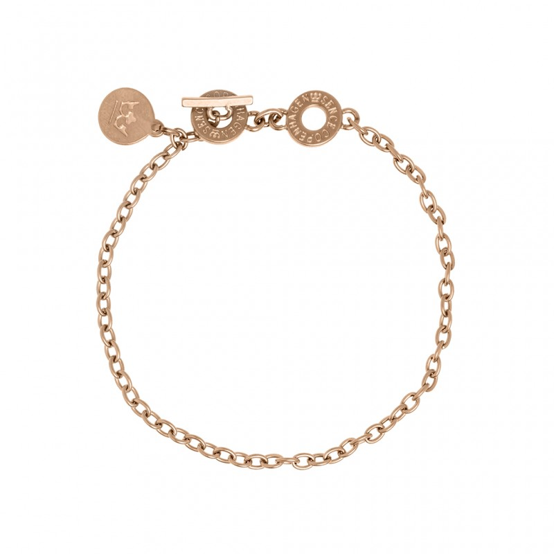 Essentials Oak bracelet in rose gold