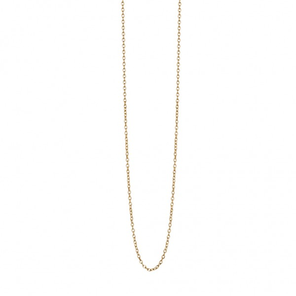 Essentials Oak long necklace in gold