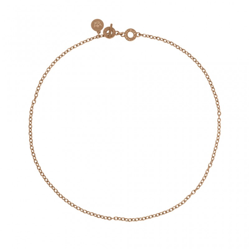 Essentials Oak short necklace in rose gold