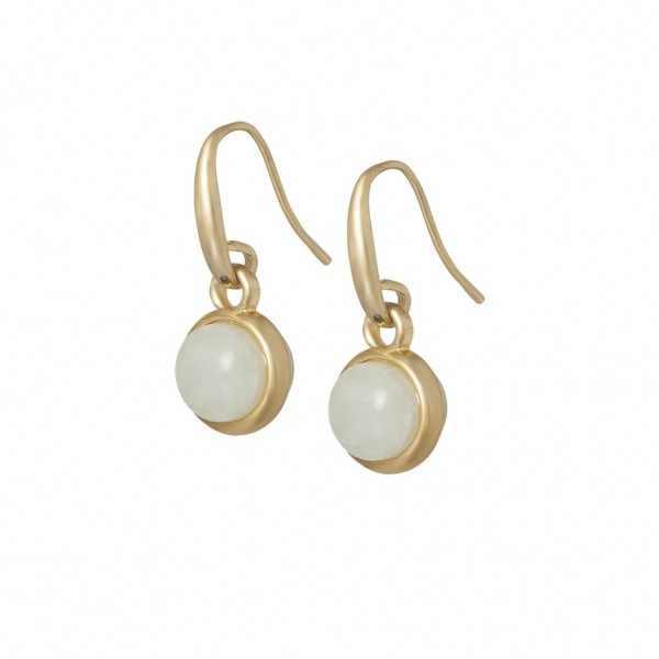 Essentials Seaberry earrings with aquamarine in gold