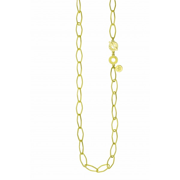 Essentials Spruce long necklace in gold
