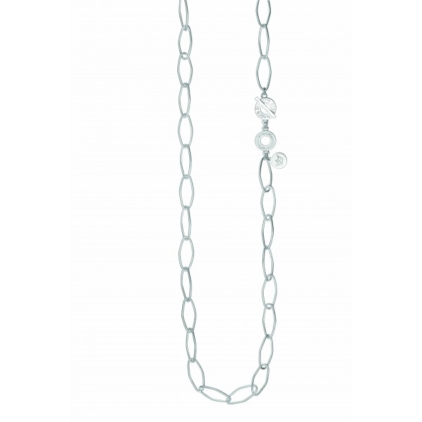 Essentials Spruce long necklace in silver