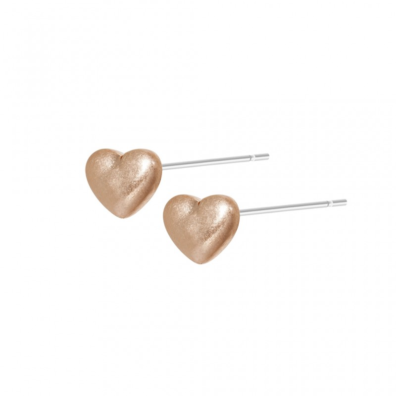 Essentials Vanila Heart earstuds in rose gold