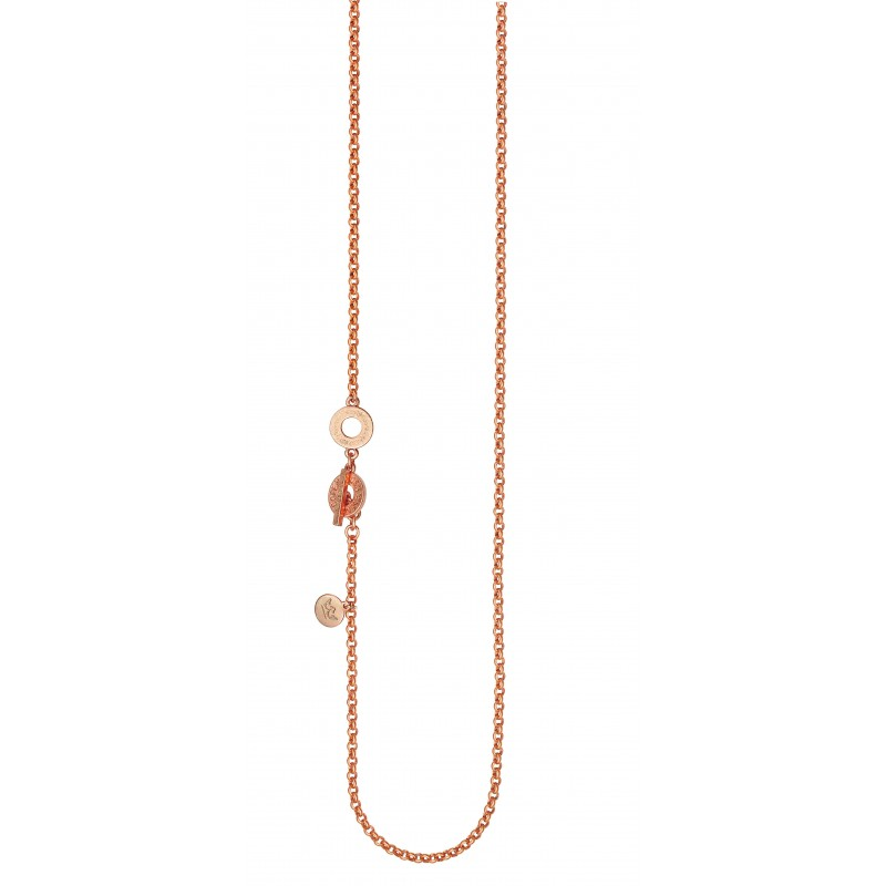 Essentials Willow long necklace in rose gold