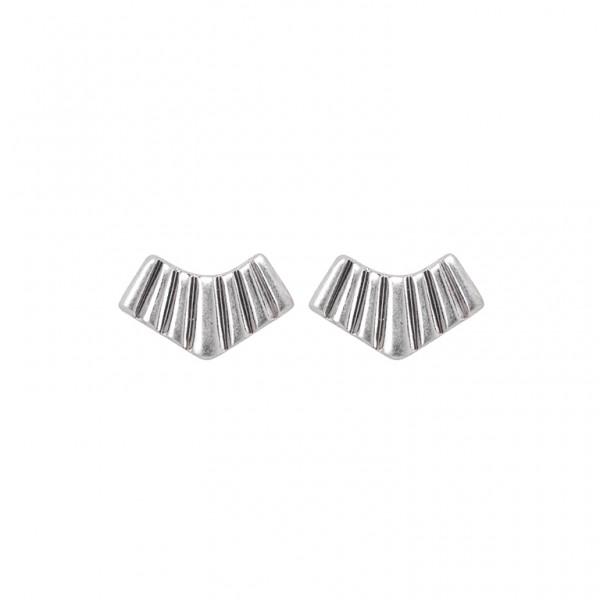 Bridges Ear Studs in Plated Silver